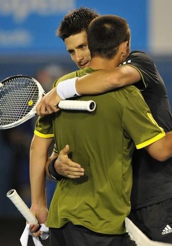Djokovic-20090125-16強-英雄相惜5
