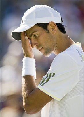 200903輸球的Djokovic