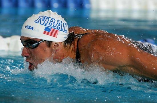MichaelPhelps-20090709-全美選拔賽-100蝶式創世界紀錄.jpg