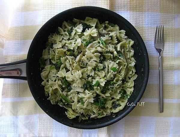 奶油秀珍菇PaSTa (Creamy Mushroom Piccolini with Spinach).jpg