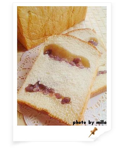 乳酪甜麵團---蜜紅豆土司