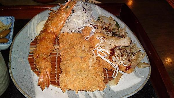 08-炸大蝦+福豚熟成嫩腰內豬排+關西風味大阪豬排燒