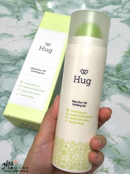 育兒保養品推薦韓國Hug-寶寶修護舒緩霜、100%蘆薈舒緩爽身凝膠乾癢、脫屑,舒緩滋潤柔嫩肌膚,孕婦也能使用11.jpg