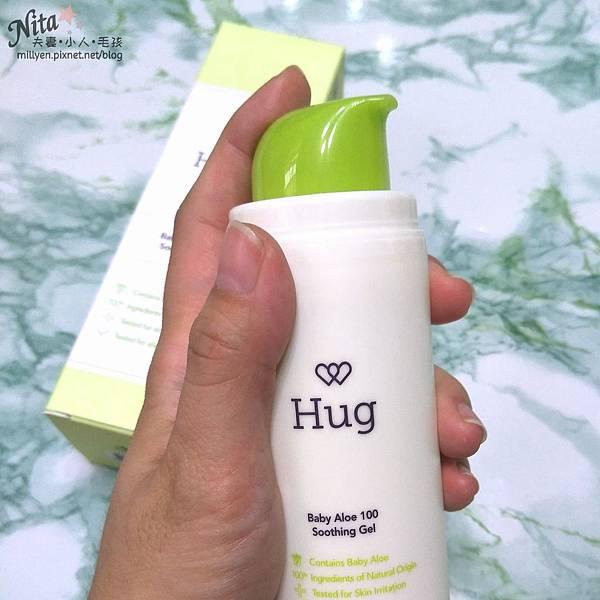 育兒保養品推薦韓國Hug-寶寶修護舒緩霜、100%蘆薈舒緩爽身凝膠乾癢、脫屑,舒緩滋潤柔嫩肌膚,孕婦也能使用12.jpg