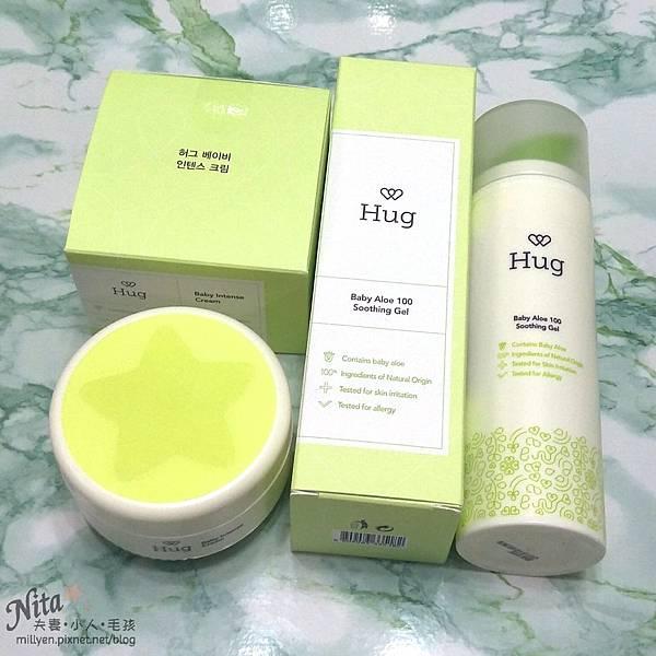 育兒保養品推薦韓國Hug-寶寶修護舒緩霜、100%蘆薈舒緩爽身凝膠乾癢、脫屑,舒緩滋潤柔嫩肌膚,孕婦也能使用21.jpg