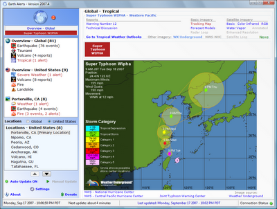 Earth Alerts Version 2008 1