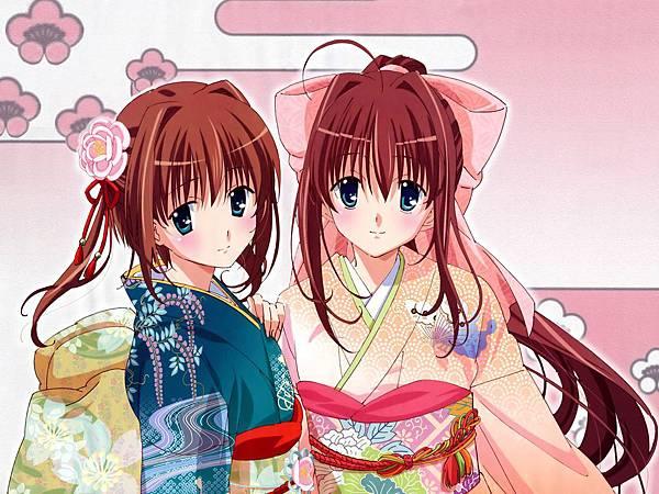 Konachan.com - 42672 asakura_otome asakura_yume da_capo_ii japanese_clothes kimono