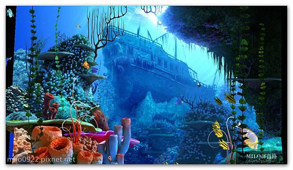 百  沈船熱帶魚Coral Reef.exeMILO BLOG__018_Coral Reef 3D Screensaver-c- 2008 3Planesoft11h22m54s