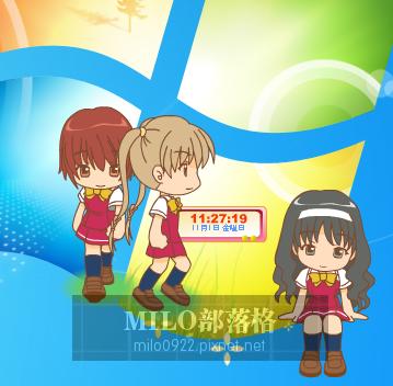 Mascot少女時鐘+桌面精靈(3個)  MILO201311121112723