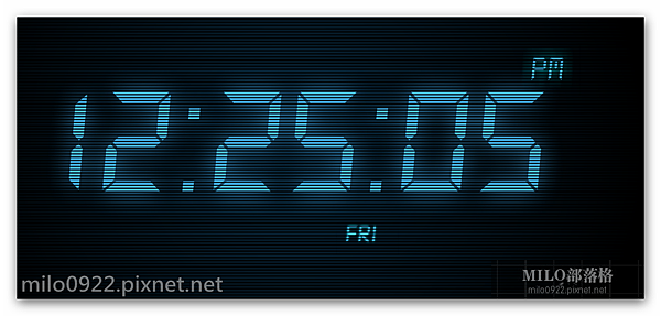 藍色月光數字時鐘屏保 milo0922.pixnet.net__022_