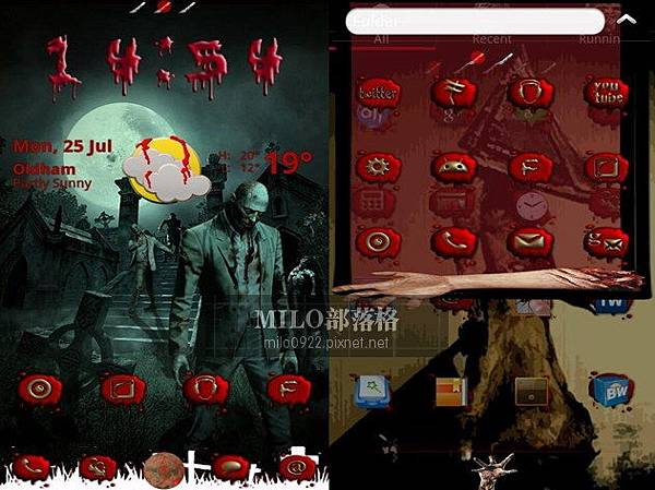Zombie Nights GO Launcher  milo0922.pixnet