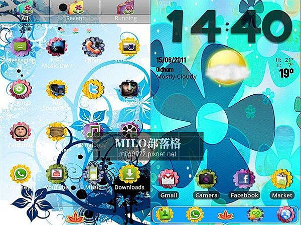 Flower Power GO Launcher milo0922.pixnet