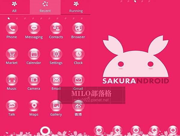Pink Go Launcher  milo0922.pixnet