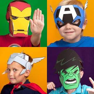 Printable Avengers Masks for Kids