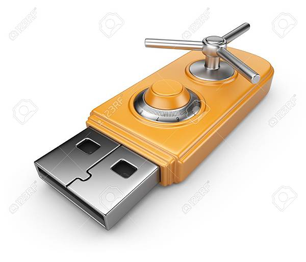 13533318-Data-security-concept-USB-flash-drive-with-lock-3D-isolated-on-white-Stock-Photo