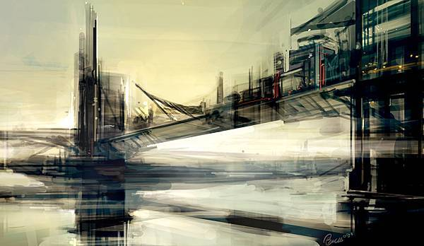 City_Sketch_1___Bridge_City_by_Benlo