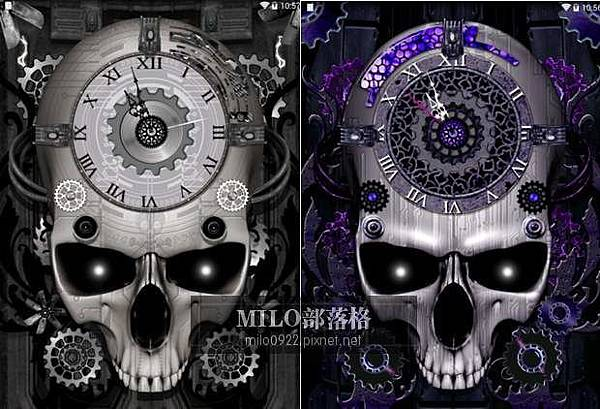 骷髏動態時鐘桌布 Steampunk Clock Live Wallpaper milo0922.pixnet