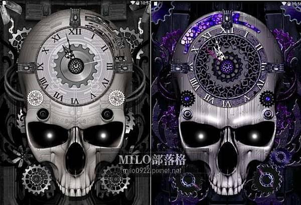骷髏動態時鐘桌布 Steampunk Clock Live Wallpaper milo0922.pixnet