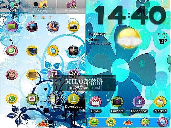 Flower Power GO Launcher milo0922.pixnet