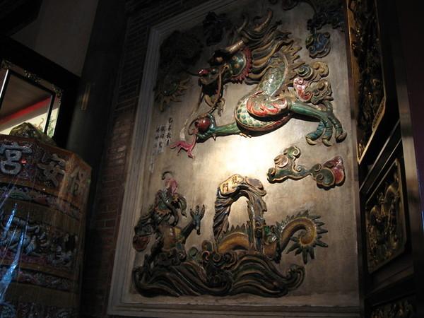 台北保安宮的壁雕