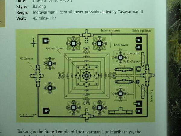 Bakong巴孔寺平面圖