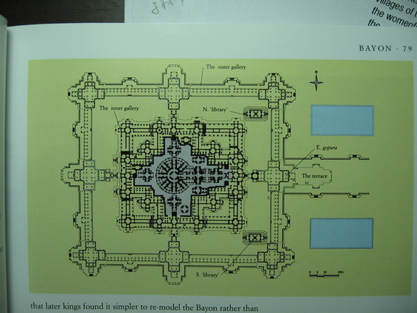 Bayon巴揚廟平面圖