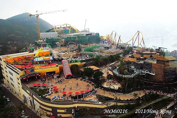 從上空俯瞰整個香港海洋公園。