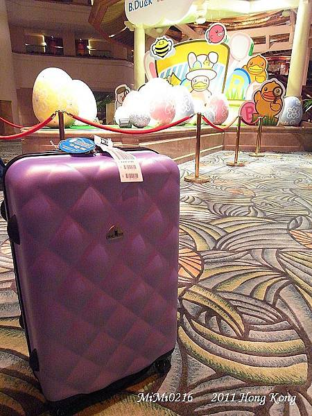 我的寶貝行李箱。