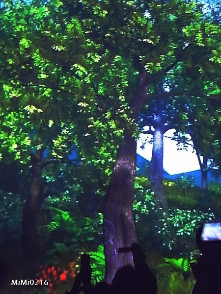 畫面中有個原點,只要把手放在上面會感應你的脈搏,小樹會慢慢長大喔!