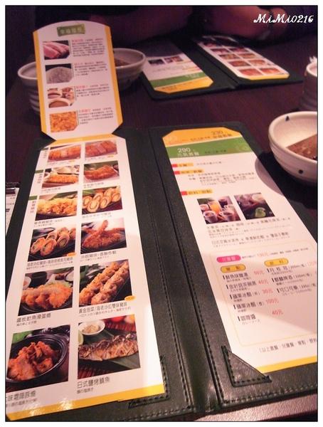 是菜單,午餐230晚餐290。(加收一成服務費)