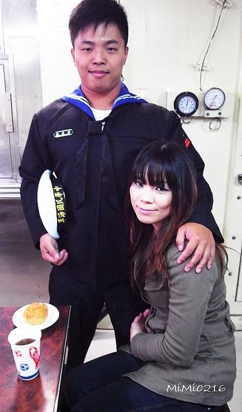 韓董與他的女朋友。
