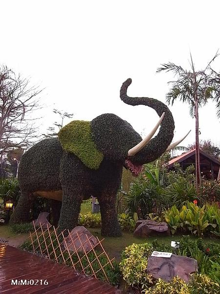 綠色的泰國大象喔。