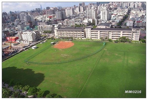 樓下就是一大遍綠綠的草地! (週末都會有人在打棒球哦!)