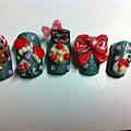 自己作的聖誕甲片六款:)