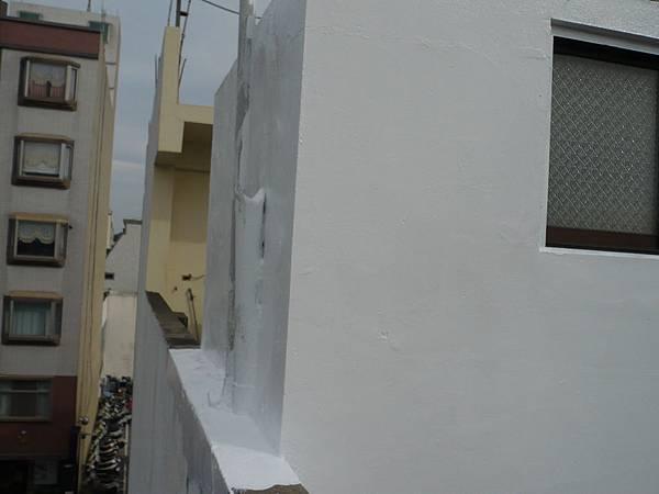 屋頂風厝外牆壓克力樹酯彈性防水漆施作