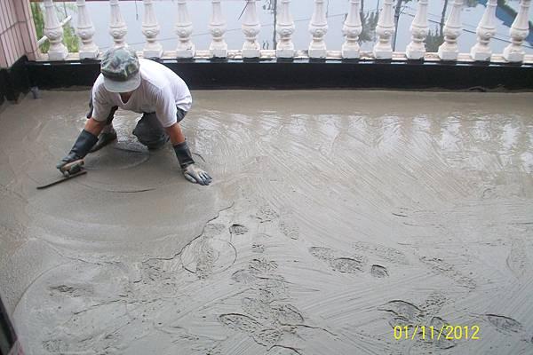 露臺防水保護層施作