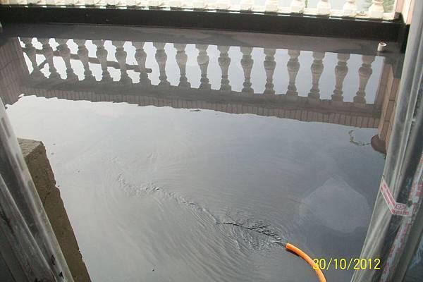 露臺地坪防水放水測試