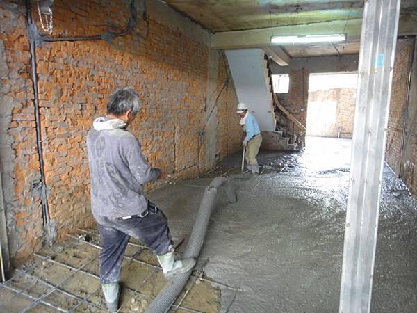 樓板墊高混凝土澆置
