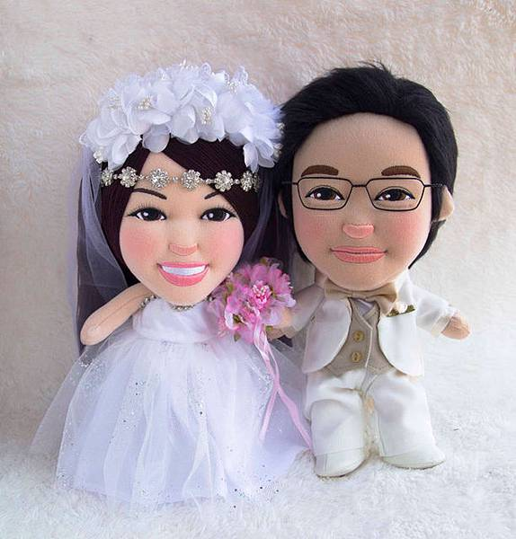 Rachel+Nevil- 婚禮公仔娃娃