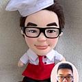SAM 來相訂造 廚師公仔