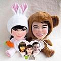 可愛動物公仔~Pon-Pon+Hun-Hun娃娃