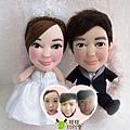 阿峰+瀲瀲- 婚禮公仔娃娃