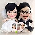安小迪 & 小肉肉- 婚禮公仔娃娃