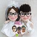 Fu+Leah- 婚禮公仔娃娃
