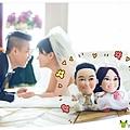 蕎蕎+朝棟 (訂製Q版布公仔)