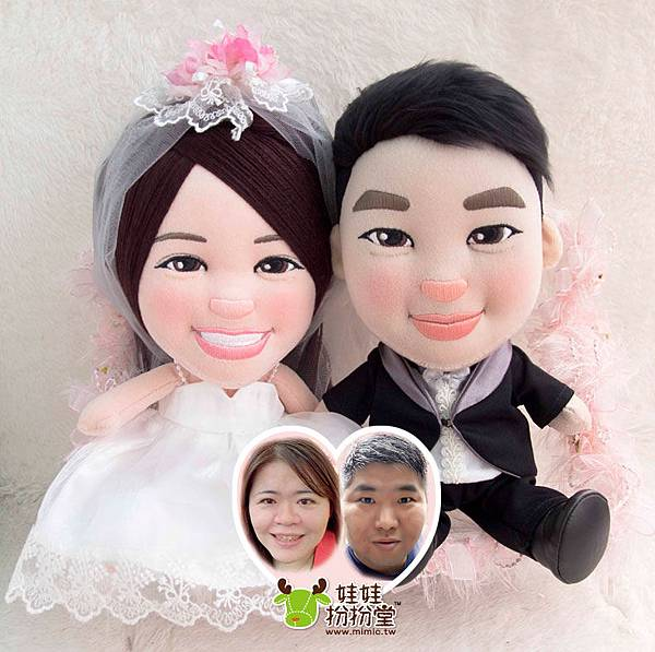 安安+豆豆- 婚禮公仔娃娃