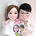 啓啓+花花 訂做結婚娃娃