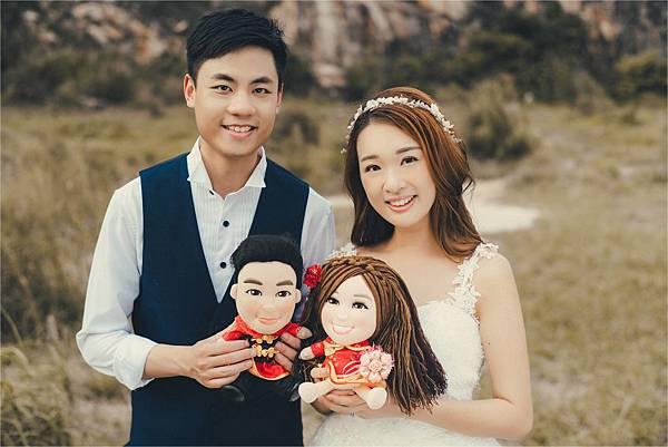 Pak Leung+Purple 婚禮公仔