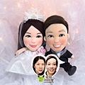 kin+mandy 婚禮公仔