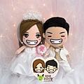 Dennis+Annie Q版漫畫婚禮娃娃